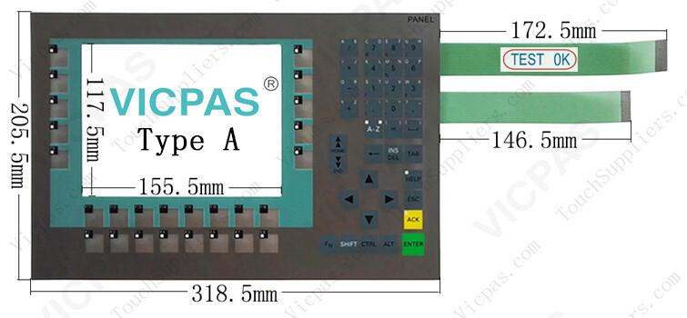 6AV6643-0DB01-1AX5 6AV6643-0DB01-1AX0 Membrane Keypad Switch repair