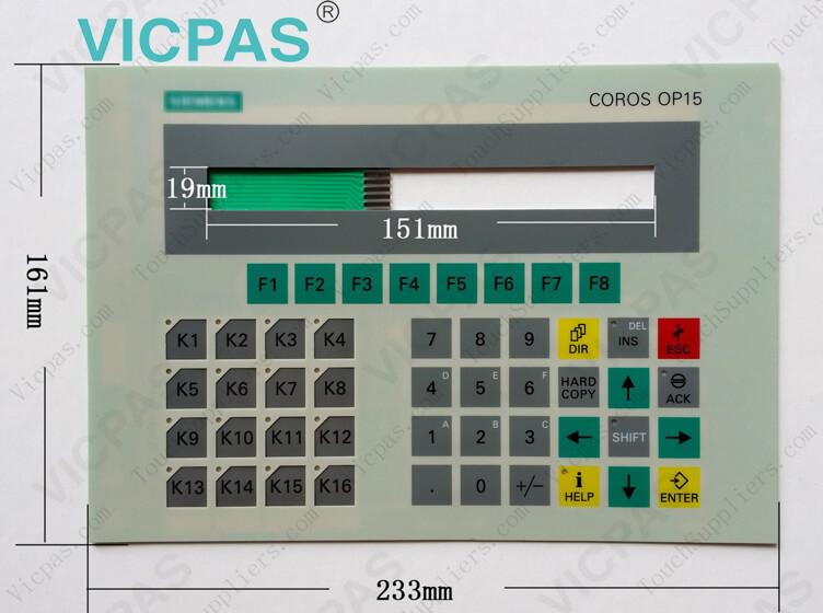 6FC5248-0AF03-0AA0 6FC5248-0AF25-0AA0 6FC5200-0AC32-1AC5 Reparación del teclado de membrana