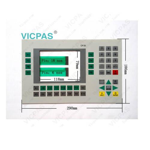 Para Siemens Simatic HMI pantalla táctil cristal y panel de operador reparación del teclado