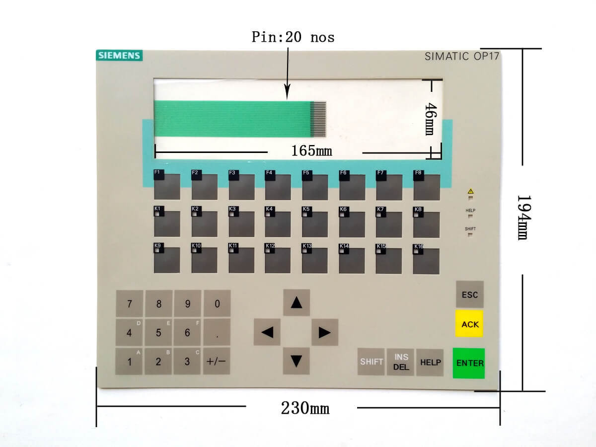6AV3617-4EB42-0AL0 Membrane Keypad Repair