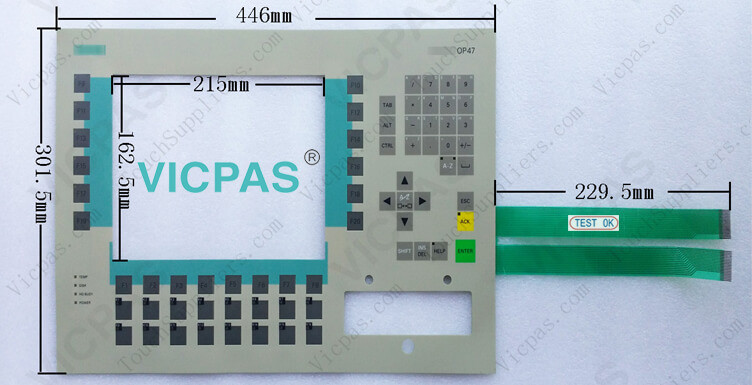 For Siemens Simatic Operator Panel OP47 Membrane Keybaord Keypad Repair