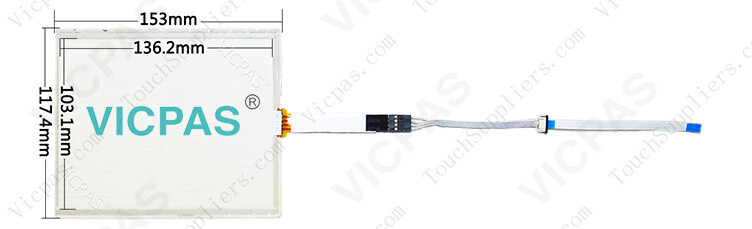 407349-000 SCN-AT-FLT06.4-001-0H1 Touch Screen Panel Glass Repair