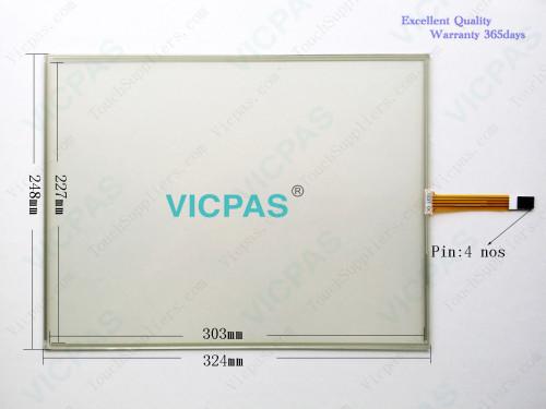 UF7811-2-DV1-24V شاشة لوحة زجاجية تعمل باللمس