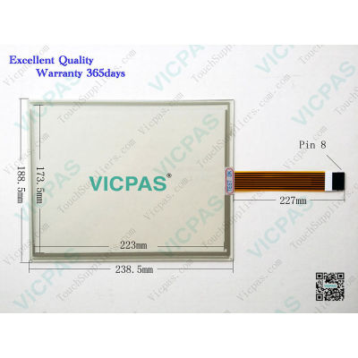 8B221 10.4''touchscreen glass 4 pin wire with 225mm*182mm Touch Screen Panel