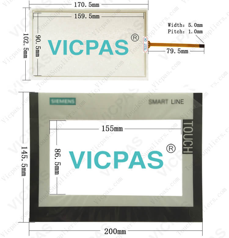 SIMATIC HMI SMART 700  touch screen panel glass