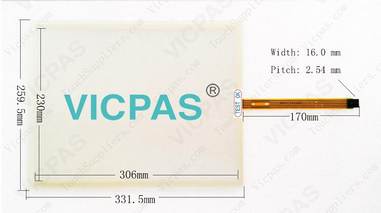 6AV7882-0DA20-2BA0 6AV7882-0DA10-1LA0 touch screen pane glass for SIMATIC IPC 277E HMI Repair