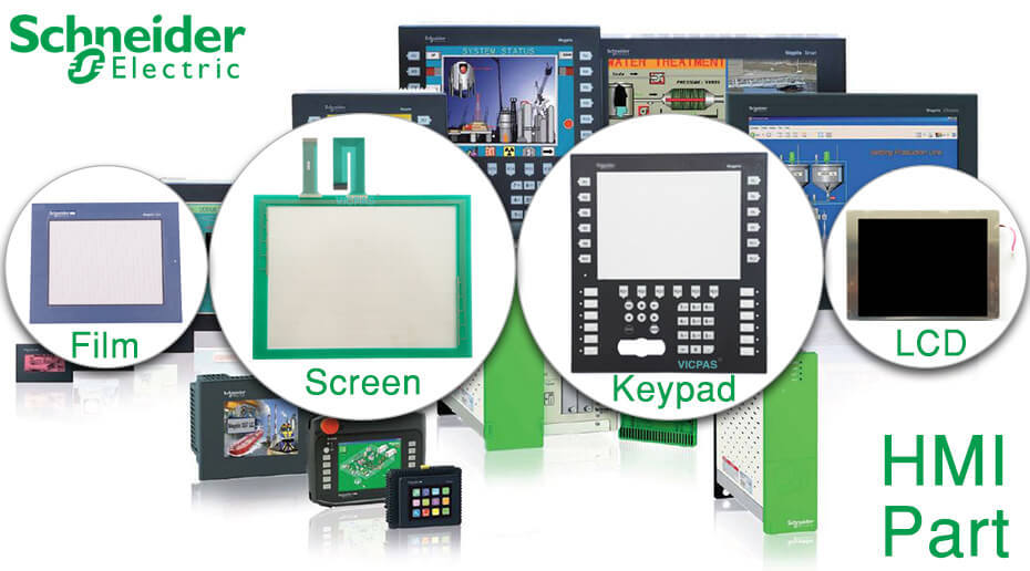 VICPAS Supply Schneider Magelis HMI Panels Part--TouchScreen, protective Film, LCD display and membrane Keypad to repair replacement