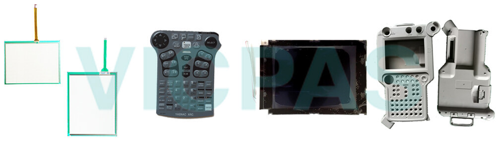 Motoman YASKAWA XKS-000J XRC JZNC-XPP02 JZNC-XPP02B Teach Pendant Parts, touchscreen, membrane keypad, LCD display, and protective case shell for repair replacement
