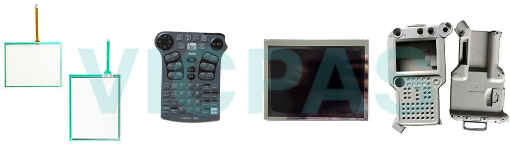 Motoman YASKAWA  JZNC-XPP03 YASKAWA JZNC-XPP03B touchscreen, membrane keypad, LCD display, and protective case shell for repair replacement