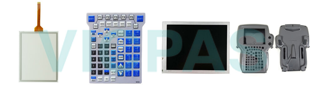 Buy Fanuc A05B-2518-C304#EAW Fanuc A05B-2518-C304#EMH Teach Pendant touch screen panel keypad switch protective case cover replacement