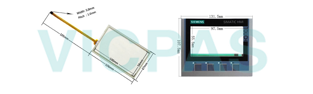 6AG1124-2DC01-4AX0 Siemens SIPLUS HMI KTP400 Comfort Touch Sreen Panel Glass, Overlay and LCD Display Repair Replacement