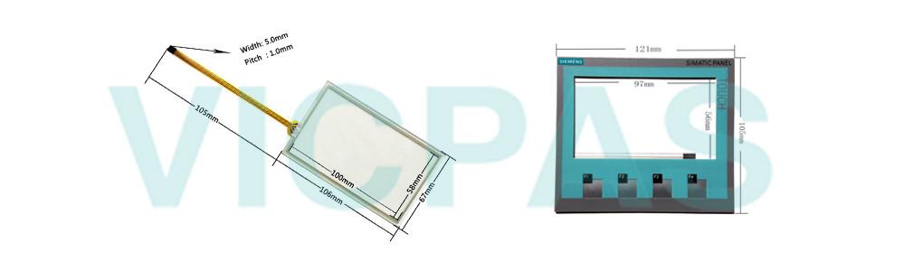 6AV6647-0AK11-3AX0 Siemens Simatic HMI KTP400 Basic Color PN TouchScreen Panel Glass, Overlay and LCD Display Repair Replacement