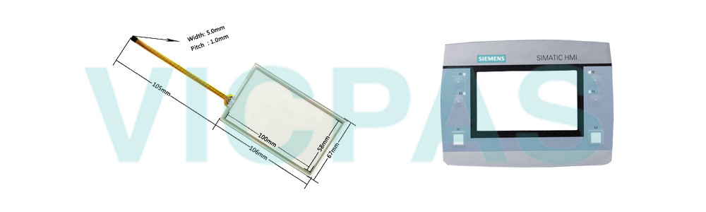 6AV6647-0AK11-3AX0 Siemens Simatic HMI KTP400F Mobile Touchscreen Panel Glass, Overlay and LCD Display Repair Replacement