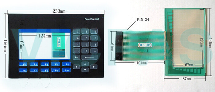 2711-B5A8L1 PanelView 550 Touch Screen Panel Membrane Keypad Switch Repair Replacement