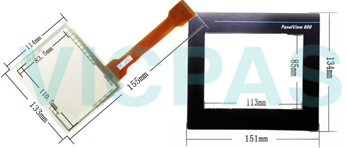 2711-T6C16L1 PanelView 600 Touch Screen Panel Protective Film Front Overlay Repair Replacement