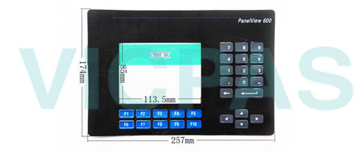 2711-K6C1L1 PanelView 600 Membrane Keypad Swtich Repair Replacement