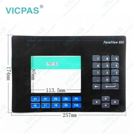2711-K6C12 PanelView 600 Membrane Keypad Keyboard