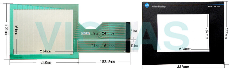 2711-T10C15 PanelView 1000 Touch Screen Panel Protective Film Front Overlay Repair Replacement
