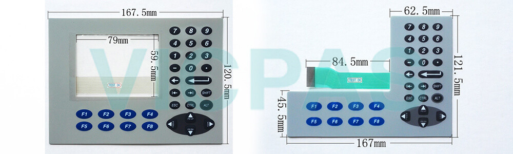 2711P-K4M5A8 PanelView Plus 6 Membrane Keyboard Keypad Switch Repair Replacement