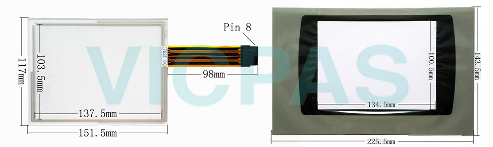 2711P-T7C6D7 PanelView Plus 700 Touch Screen Panel Protective film Repair Replacement