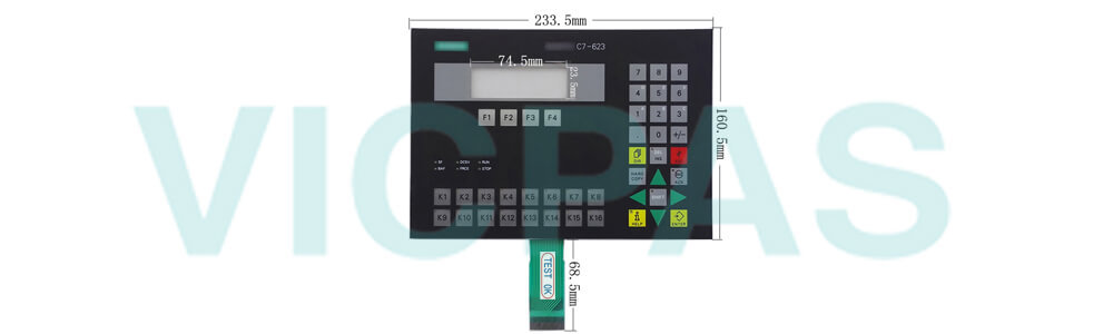 6ES7623-1DE01-0AE3 Siemens SIMATIC HMI C7-623 Membrane Keyboard Plastic Repair Replacement