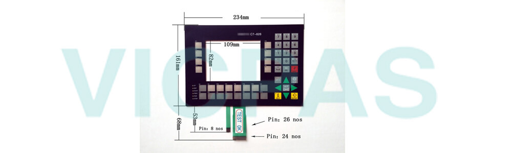 6ES7626-1AG01-0AE3 Siemens SIMATIC HMI C7-626 Membrane Keyboard Plastic Repair Replacement