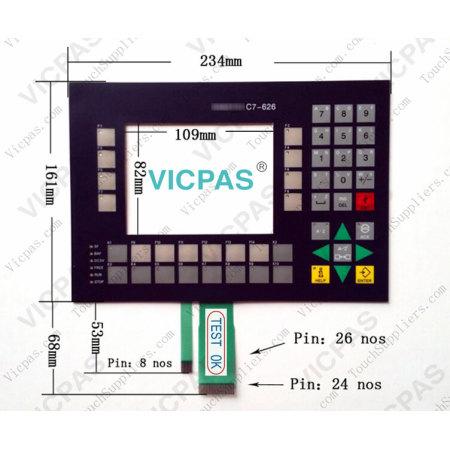 6ES7626-1CG01-0AE3 Siemens SIMATIC C7-626 Membrane Keypad