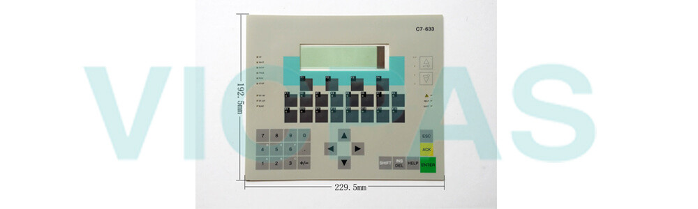 6ES7633-1DF02-0AE3 Siemens SIMATIC HMI C7-633 Membrane Keyboard Plastic Repair Replacement