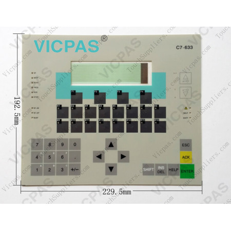 6ES7633-1DF00-0AE3 SIMATIC Siemens C7 633 Membrane Switch