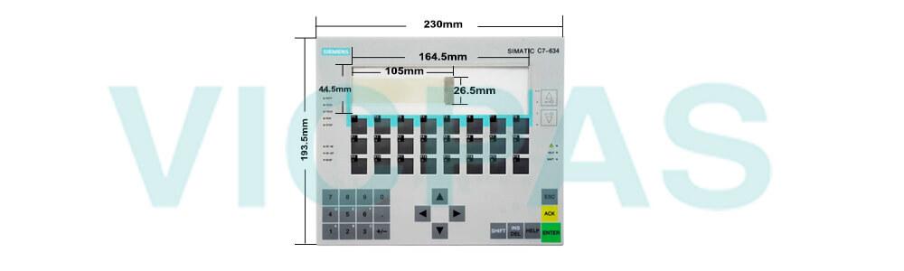 6ES7634-1DF02-0AE3 Siemens SIMATIC HMI C7-634 Membrane Keyboard Plastic Repair Replacement