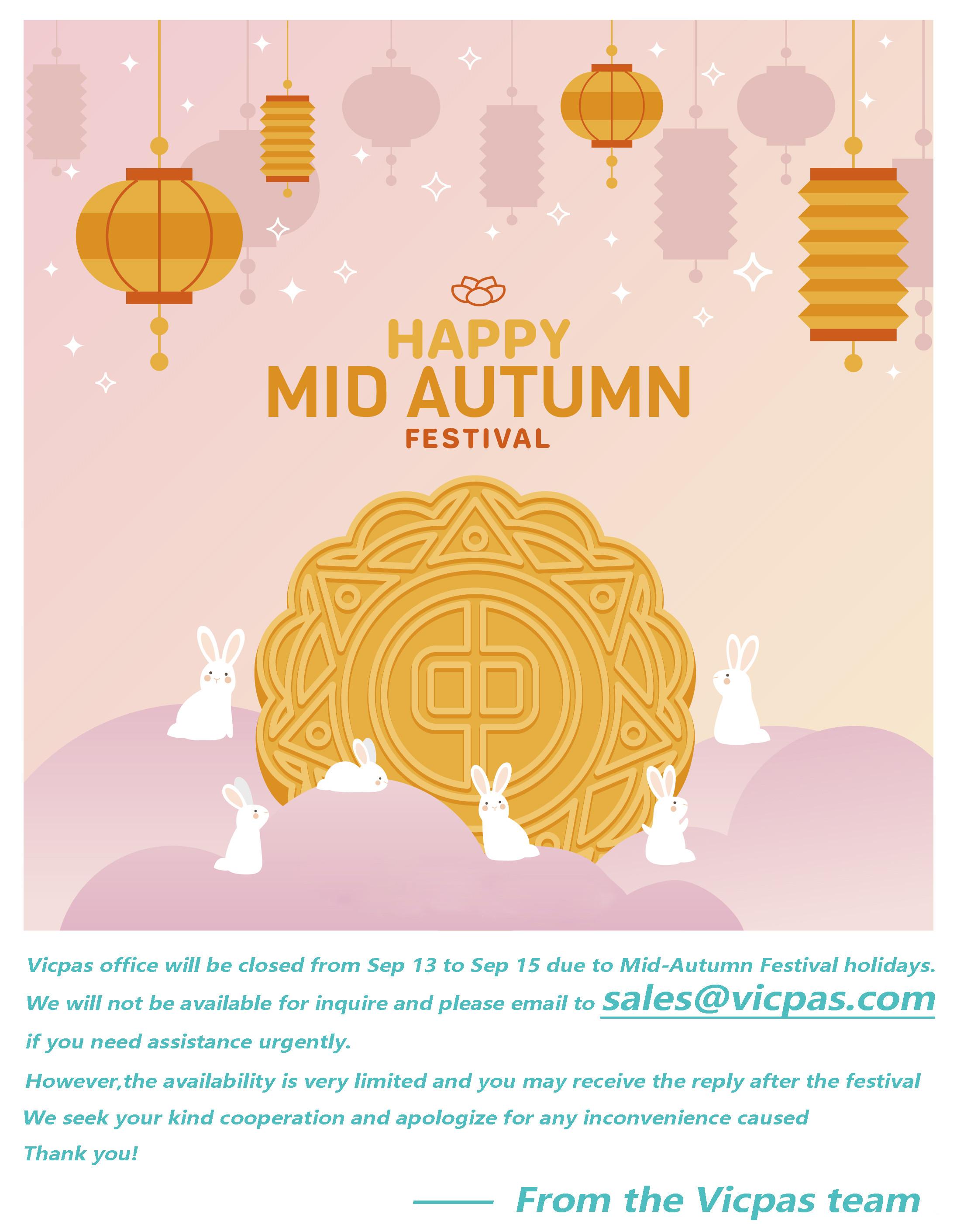 Mid-Autumn Festival Holidays Notice