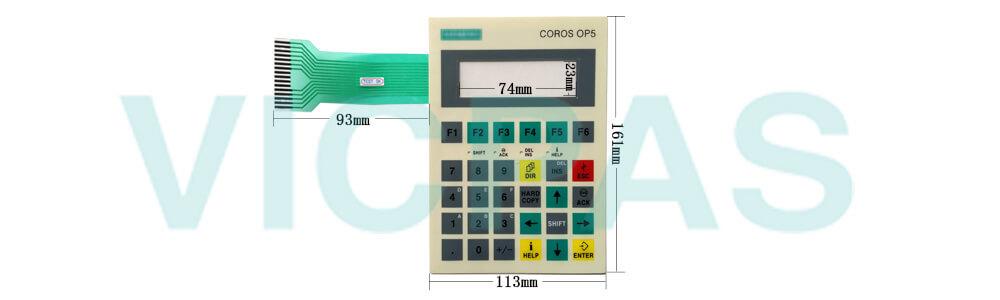 6AV3505-1FB01 Siemens SIMATIC HMI OP5 OP 5 OPERATOR PANEL Membrane Keyboard and Plastic Case Shell Repair Replacement