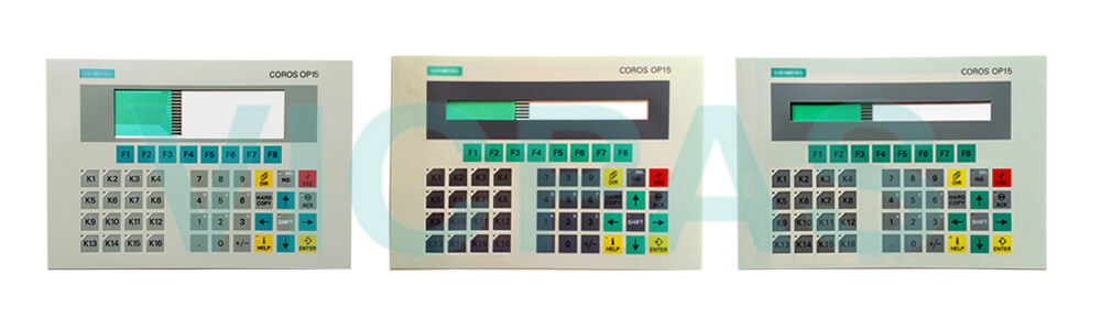 6AV3515-1MA30 Siemens SIMATIC HMI OP15 OP 15 OPERATOR PANEL Membrane Keyboard and Plastic Case Shell Repair Replacement