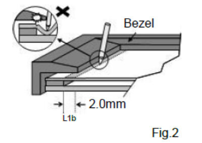 Bezel Edge (Fig.1&2)