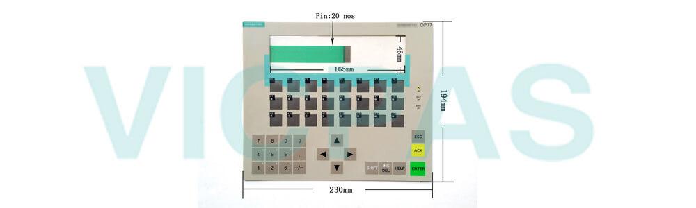 6AV3617-5BB00-0AB1 Siemens SIMATIC HMI OP17 OP 17 OPERATOR PANEL Membrane Keyboard and Plastic Case Shell Repair Replacement
