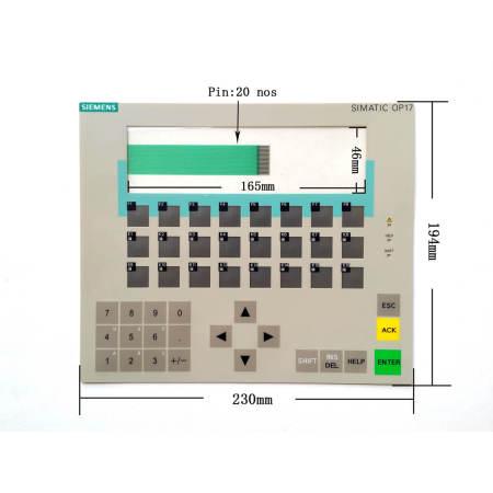 6AV3617-1JC00-0AX2 Siemens Operator Panel OP17 Membrane Switch