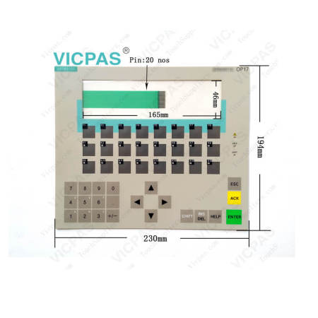 6AV3617-1JC30-0AX2 Siemens SIMATIC OP17 Membrane Keypad