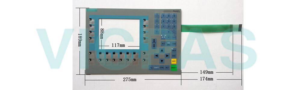 6AV6643-0BA01-1AX1 Siemens SIMATIC HMI OP 277 OPERATOR PANEL Membrane Keyboard ,Display and Plastic Case Shell Repair Replacement