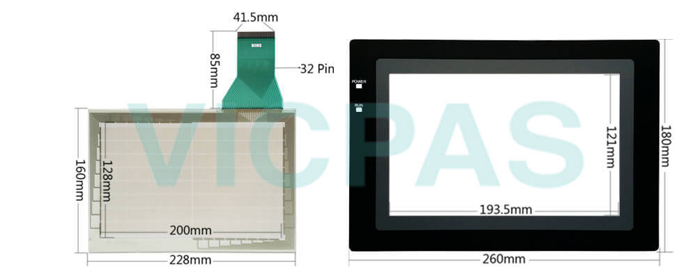 Omron NT600S series HMI NNT600S-ST121-EV3 Touchscreen, Protective film and Display Repair Kit