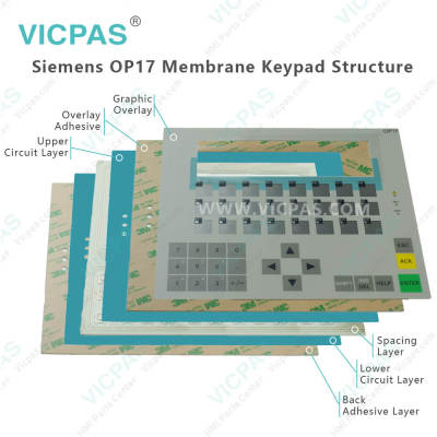 6AV3617-4EB42-1AA0 Siemens OP17 Membrane Keyboard Replacement