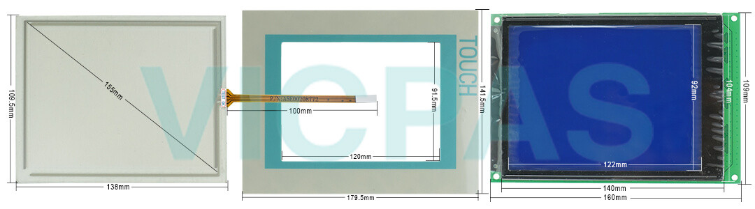 "6AV6642-5BA10-0DU0 Siemens TP177B 6"" DP MSTN 6AV6 642-5BA10-0DU0 Touch Screen Panel, Overlay, Front Cover and LCD Display Repair Replacement"
