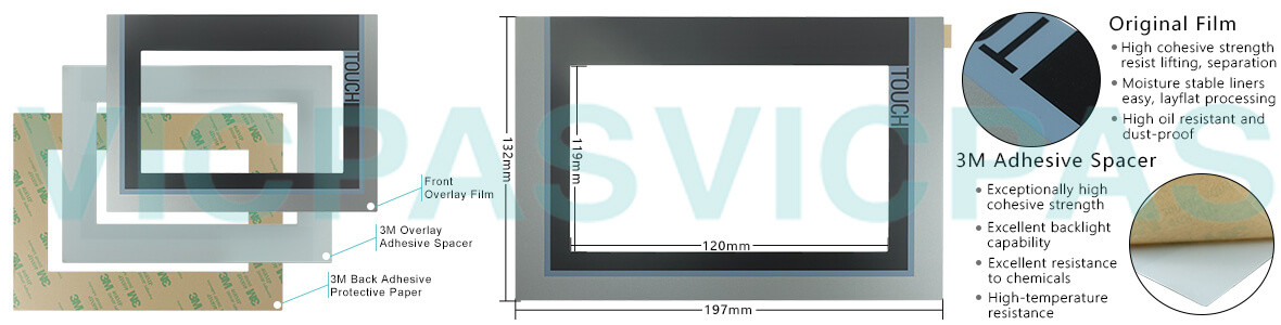 6AV2124-0JC01-0AX0 SIMATIC HMI TP900 COMFORT Touch Panel, Overlay and LCD Display Repair Replacement