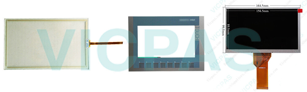 6AG1123-2GA03-2AX0 Simens SIPLUS HMI KTP700 BASIC DP Panel TouchScreen Glass, Overlay and LCD Display Repair Replacement