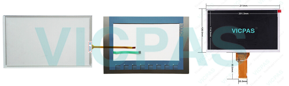 6AG1123-2JB03-2AX0 Siemens SIPLUS HMI KTP900 Basic Touchscreen Panel Glass, Overlay and LCD Display Repair Replacement