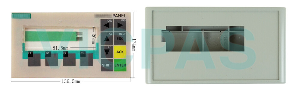 Siemens OP73 Simatic 6AV6651-1AA01-0AA0 6AV6650-0BA01-0AA0 membrane keypad switch and Plastic Case Cover Repair Replacement