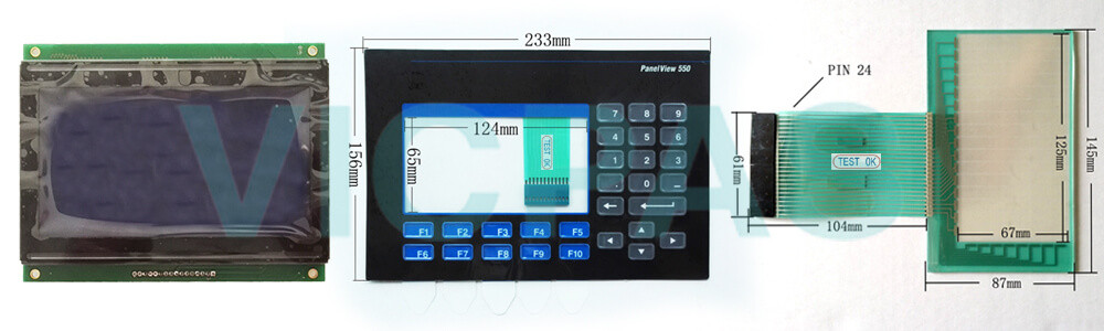2711-B5A9L1 PanelView 550 Touch Screen Panel Membrane Keypad Switch LCD Display Repair Replacement