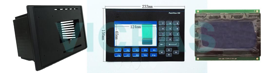 2711-K5A15 PanelView 550 Membrane Keyboard Keypad LCD Display Plastic Case Cover Repair Replacement