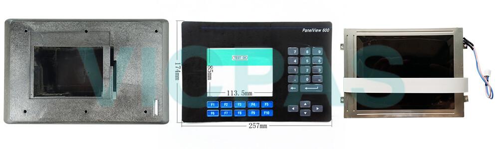 2711-K6C2L1 PanelView 600 Membrane Keypad Swtich LCD Display Plastic Case Cover Repair Replacement