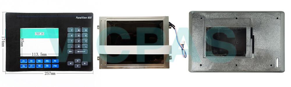 2711-K6C1L1 PanelView 600 Membrane Keypad Swtich LCD Display Plastic Case Cover Repair Replacement