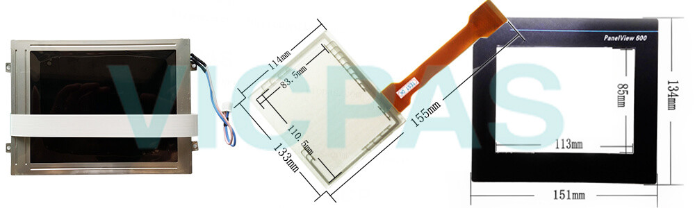 2711-T6C16L1 PanelView 600 Touch Screen Panel Protective Film Front Overlay LCD Display Repair Replacement